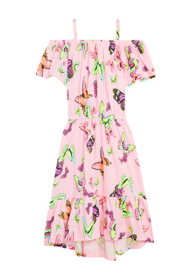 Cold Shoulder Butterfly Dress