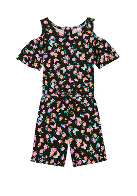 Floral Butterfly Romper