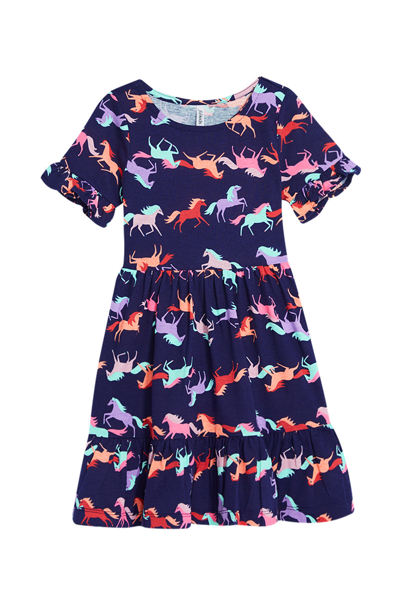 Horse Ruffle Dress