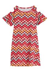 Cold Shoulder Heart Dress