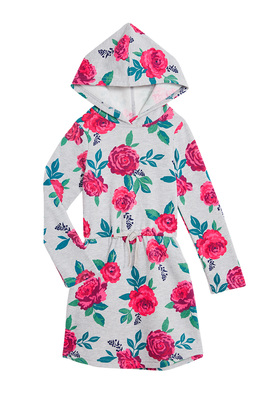 Rose Hoodie Dress