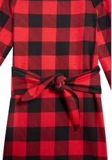 Plaid Tie Front Dress