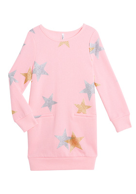 Star Sweatshirt Dress