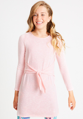 Cozy Tie Front Dress