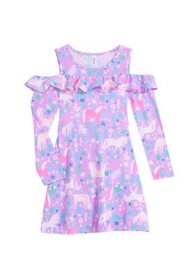 Unicorn Cold Shoulder Dress