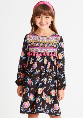 Mix Print Floral Dress