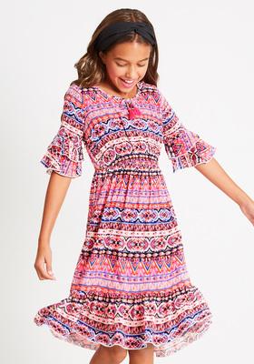 Geo Print Midi Dress