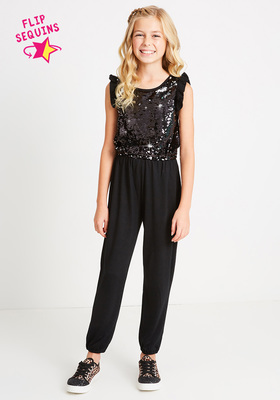 Sequin Front Jumpsuit