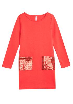 Sequin Pocket Sweatshirt Dress