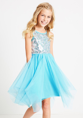 Sequin Front Tulle Dress