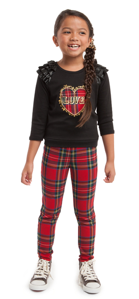 Plaid Hearted Outfit