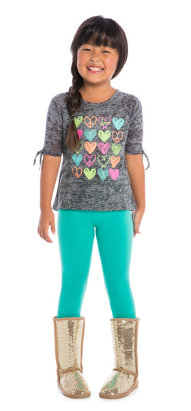 Teal Peace & Love Outfit
