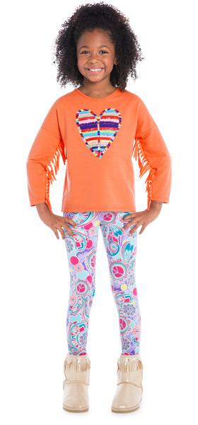 Legging Heart Boho Outfit