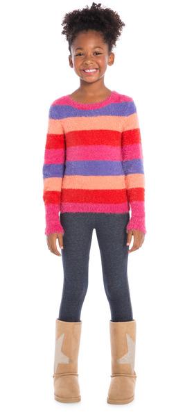 Denim Cozy Stripes Outfit