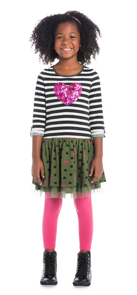 Pink Hearts & Stripes Outfit