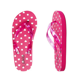 Metallic Heart Flip Flop