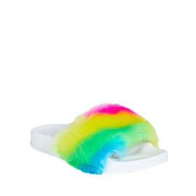 Rainbow Fur Slide