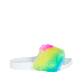 rainbow fur slide fabkids