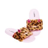 Leopard Fur Slide