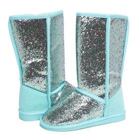 Teal Glitter Fuzzies