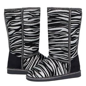 Fab Glitter Zebra Fuzzies