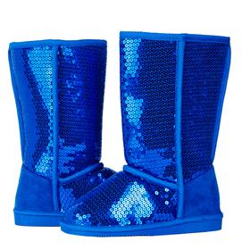 Blue Sequin Fuzzies