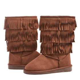 Tall Fringe Moccasin Fuzzies