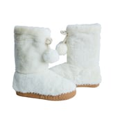 Faux Fur Pom Pom Slippers