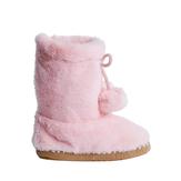Faux Fur Pom Pom Slippers