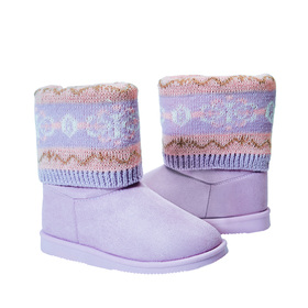 Photo of Fold Over Sweater Fuzzy Boot
