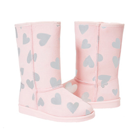 Photo of Silver Hearts Fuzzy Boot