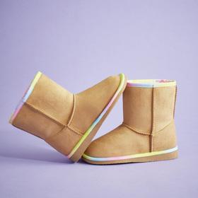 Photo of Rainbow Trim Fuzzy Boot