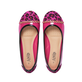 Pink Leopard Toe Flat