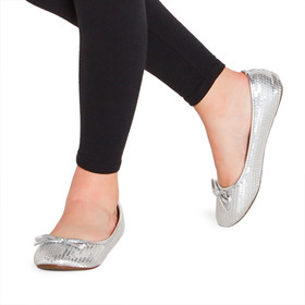 Silver Sequin Flat