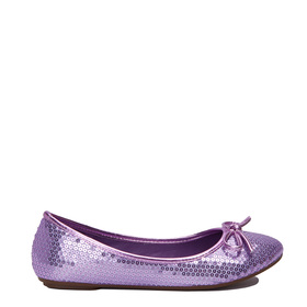 Purple Sequin Flat