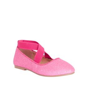 Glitter Ankle Strap Flat