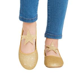 Glitter Star Strap Flat