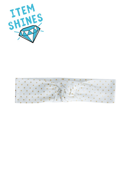 Gold Dot Knotted Headband