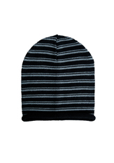 Grey Stripe Beanie