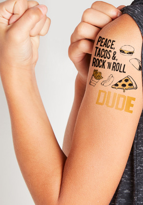 Dude Let's Eat Tattoo Pack