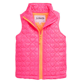 Quilted Heart Puffer Vest