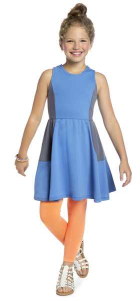 Color Block Twirl Outfit