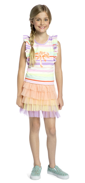 Color Striped Tutu Outfit