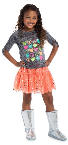 Tutu Heart Doodle Outfit
