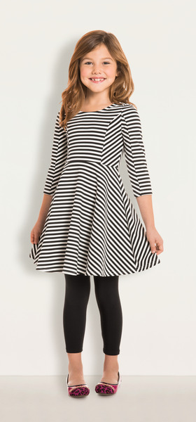 Stripe Skater Dress Outfit