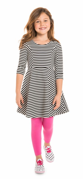 Pink Stripe Skater Outfit