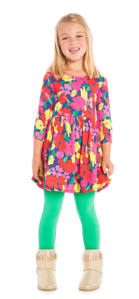 Green Fall Floral Outfit