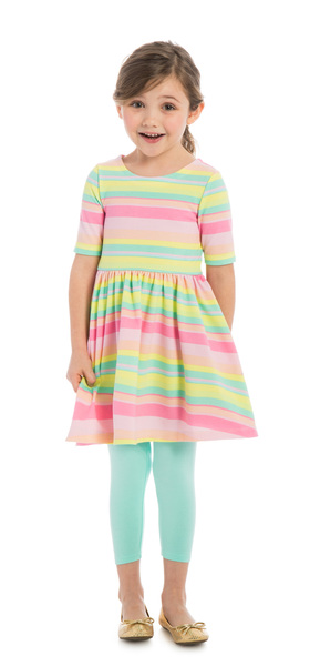 Blue Rainbow Stripe Outfit