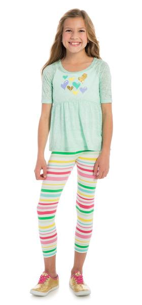 Stripe Heart Flutter Outfit