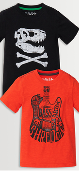 Dino Skull & Guitar Tee Pack